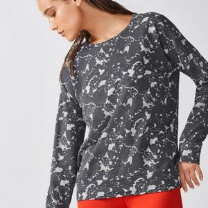 Fabletics | Burnout Floral Sweatshirt Size Large